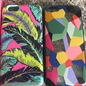 Vera Bradley iPhone 6, Includes both phone cases.